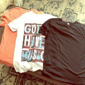 Bundle of 3 boys t shirts